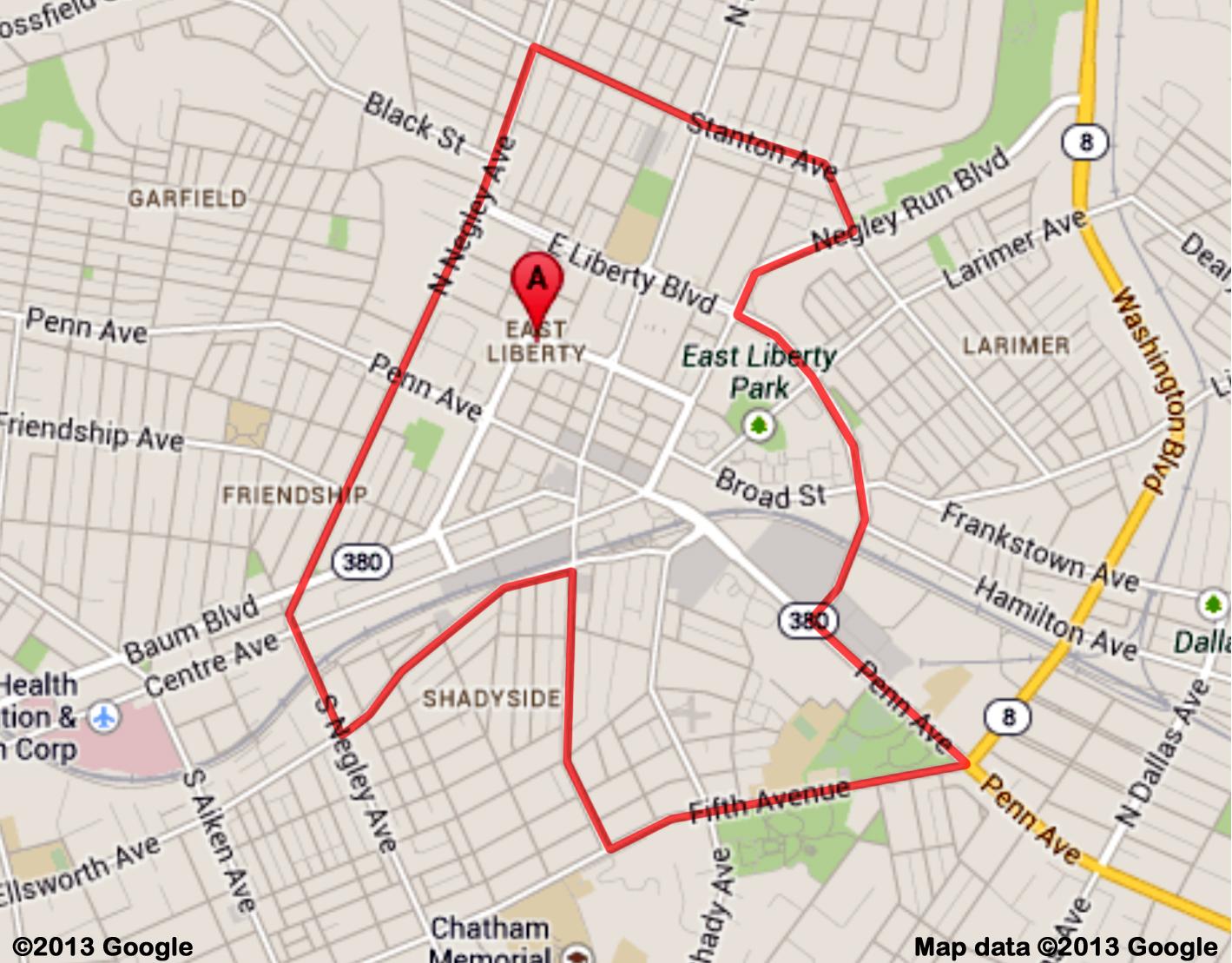 East Liberty Web Boundary Map