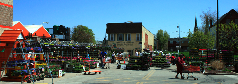 Farmers Market (next to Home Depot)